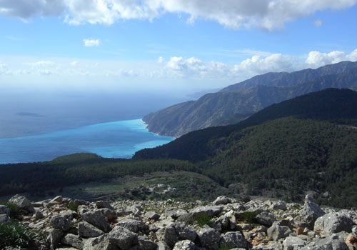 Crete walks: Agios Ioannis view to the sea
