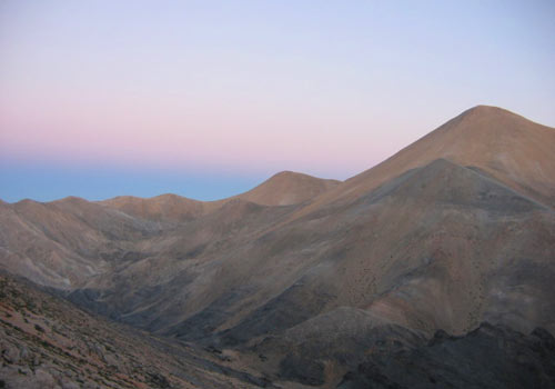 Crete walks: Sunset in the White mountains