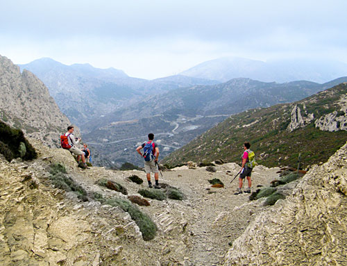 Greece walks: Karpathos island: View to Olympos
